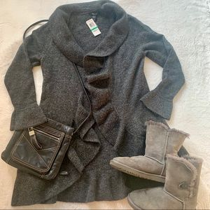 NWT Style and Co, long cardigan dark grey